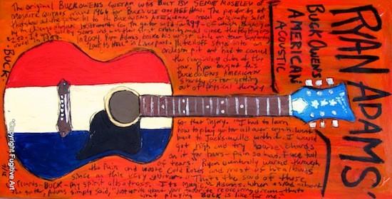 Ryan Adams' Buck Owens American Acoustic - COURTESY OF FUGITIVE ART