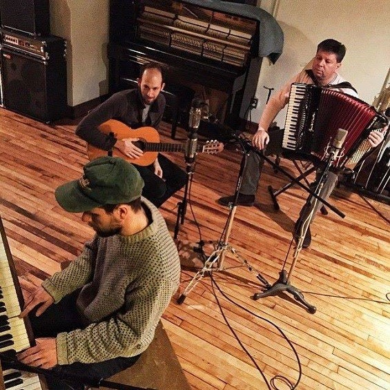 Louis Wall and Ben Tulin of the Texas Room, with Mensur Hatich on Accordian. - JARRED GASTREICH