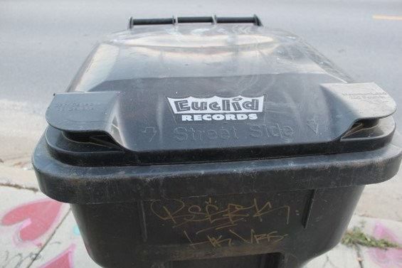 The garbage cans in Marigny are Euclid Records fans. - DIANA BENANTI
