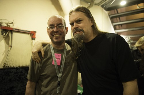 Me with Meshuggah's guitarist Frederik Thordendal.