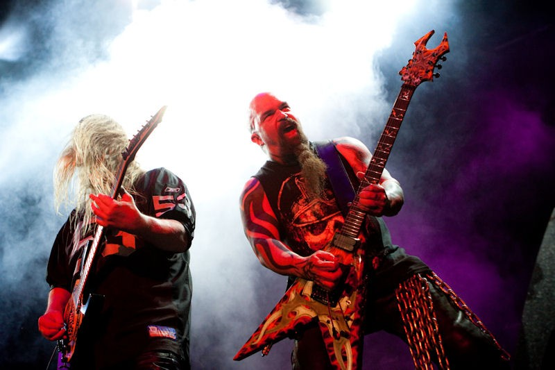 Slayer's Jeff Hanneman, left, and Kerry King, right. - PHOTO: STEW SMITH
