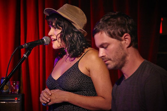 Norah Jones and Cory Chisel's band at the Open Highway Music Festival in 2013. - STEVE TRUESDELL