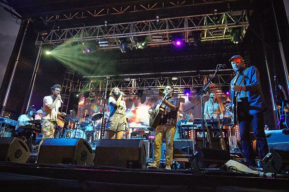 Edward Sharpe and the Magnetic Zeros at LouFest this year. - STEVE TRUESDELL