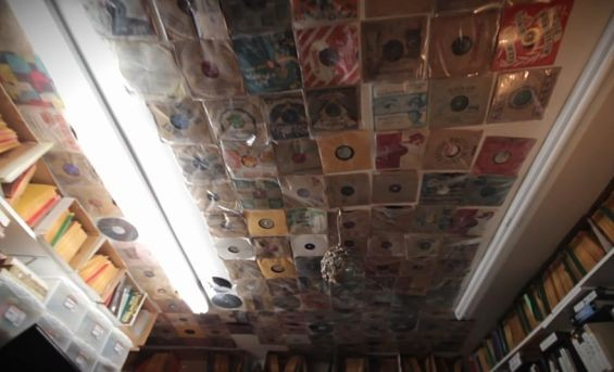 Tussey has so many records, he keeps some on the ceiling. He calls it his Sistine Chapel.
