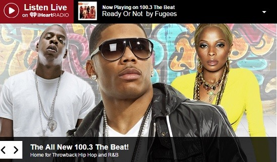 100.3 the Beat will specialize in classic hip-hop and R&B. - SCREENSHOT FROM THE STATION'S OFFICIAL WEBSITE.