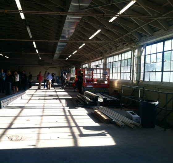 The warehouse that will become the new home of St. Louis ArtWorks is flooded with light thanks to large windows facing east. - PHOTO BY SARAH FENSKE