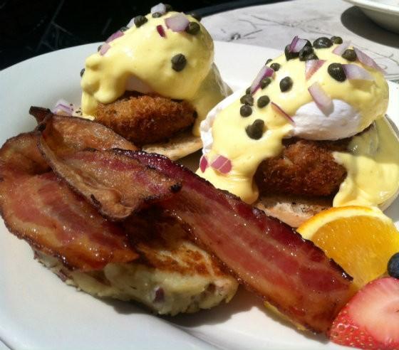 Eggs benedict ... but whose? - PHOTO BY SARAH FENSKE