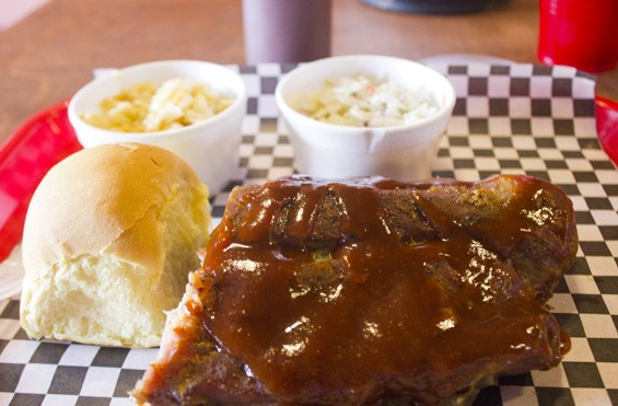 A lunch portion of Andre's ribs is just $9.99 and comes with two sides. - PHOTO BY SARAH FENSKE
