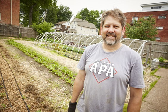Brian DeSmet, Schlafly's farmers' market and garden manager. - PHOTO BY STEVE TRUESDELL