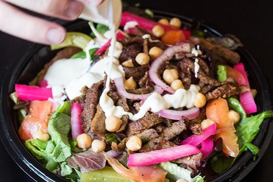 Another look at the shawarma salad.
