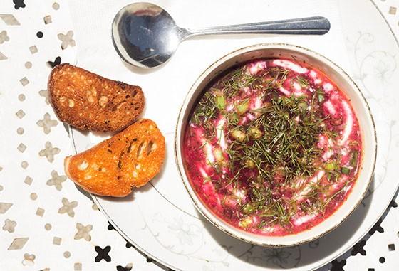 HandleBar's got excellent borscht, naturally. - MABEL SUEN