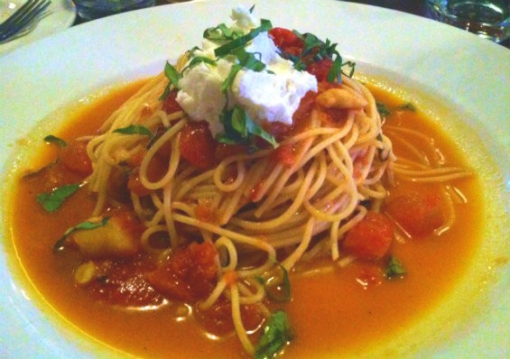 Pasta pomodoro. But where is it from? - PHOTO BY SARAH FENSKE