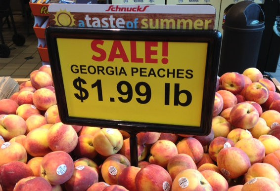 Buy the peach. - KRISTIE MCCLANAHAN