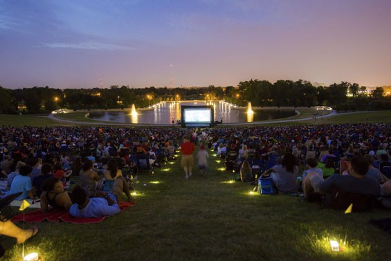 This summer, catch Jaws or The Sound of Music on the lawn at Art Hill -- for free. - COURTESY OF THE ST. LOUIS ART MUSEUM