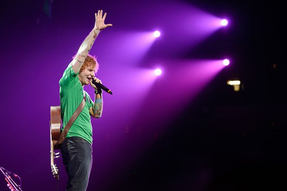 Ed Sheeran returns to the Scottrade Center this Sunday. See more photos from his 2013 appearance opening for Taylor Swift in RFT Slideshows. - PHOTO BY TODD OWYOUNG