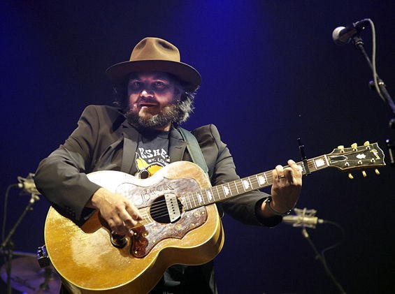 Jeff Tweedy performing at LouFest in 2013. - PHOTO BY STEVE TRUESDELL