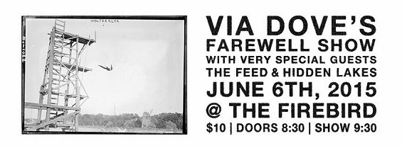 The show flyer for Via's Dove final performance.