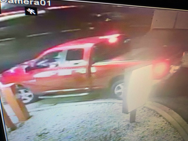 A Popeyes customer in this truck opened fire on the restaurant, police say. - COURTESY ST. PETERS POLICE