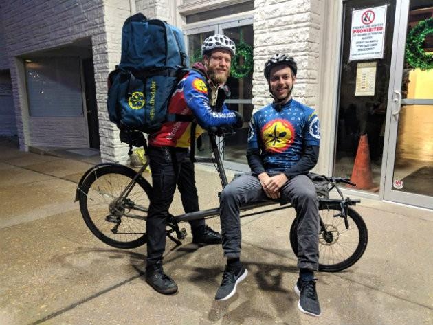Tim Kiefer, left, and Alex Ward plan to expand Food Pedaler. - BETH GROLLMES-KIEFER