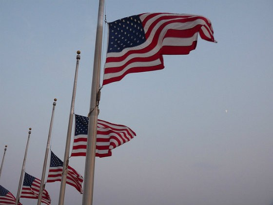 Half-mast flags are a common sign of mourning. But have they ever mourned something a Supreme Court decision? - PHOTO COURTESY OF FLICKR/SUSAN UJKA'S COLLECTION