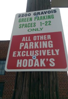 Signs at the parking lot now warn guests of exactly where they may park. - PHOTO COURTESY OF DOUG FIRLEY