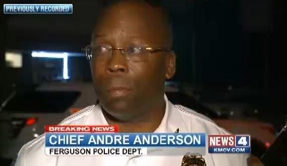 Andre Anderson, Ferguson's interim police chief. - KMOV