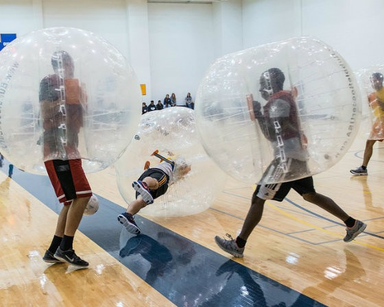 Bubble soccer is like soccer.... and bumper cars. - PHOTO COURTESY OF FLICKR/TEXAS A&M UNIVERSITY- COMMERCE MARKETING COMMUNICATIONS