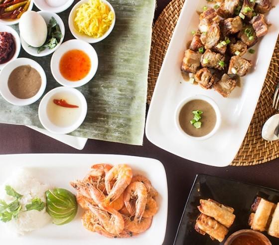 A sample of Kamayan's Filipino buffet - PHOTO BY MABEL SUEN