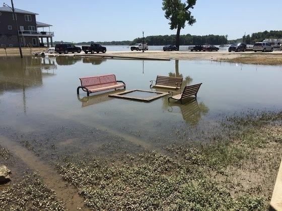Flooding in Grafton, Illinois. - PHOTO BY KEVIN KORINEK