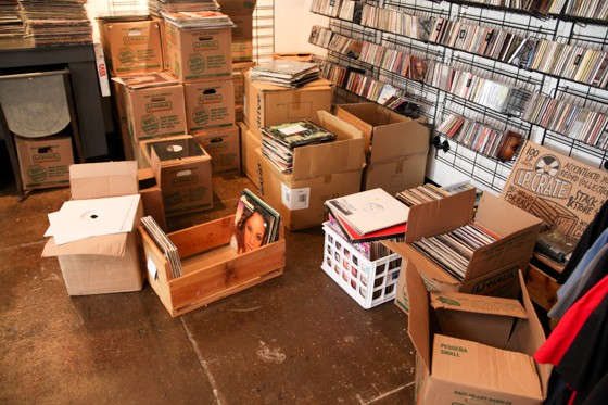 Just some of the massive collection of records purchased by Music Record Shop last week. - DEREK SCHWARTZ