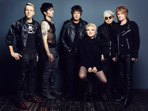 Blondie with Chris Stein (second from right) - PHOTO BY DANIELLE ST. LAURENT