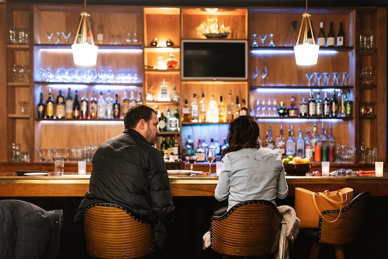 """The bar program at 808 Maison is still """"coming together,"""" but it's a great place to linger over a drink. - SPENCER PERNIKOFF"""