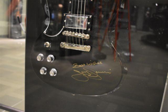 One of Tony Iommi's signature SGs, signed by the Black Sabbath rocker. - DANIEL HILL