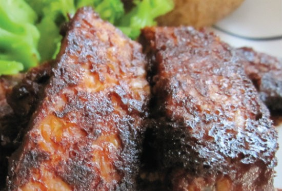 No — these aren't ribs. Smoked Tempeh at Capitalist Pig - COURTESY OF CAPITALIST PIG