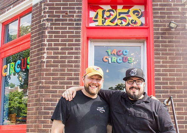 Christian Ethridge (l) with fellow Taco Circus Chef Peter Clark - MABEL SUEN