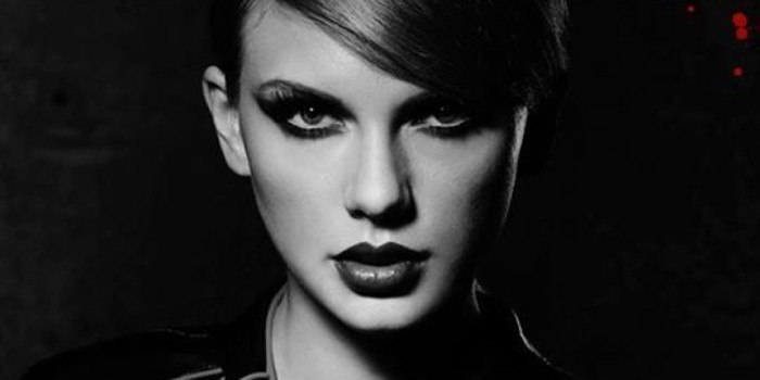 "Terrifying, dead shark eyes: Check. - THE COVER OF SWIFT'S ""BAD BLOOD"" SINGLE"