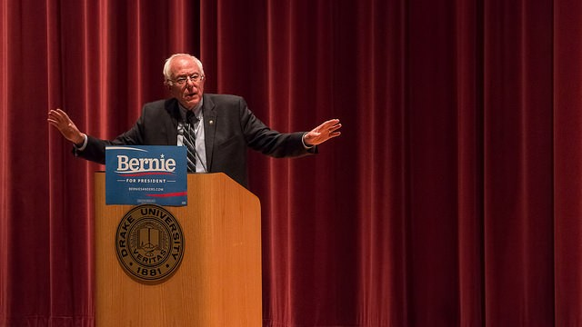 Will Democratic voters feel the Bern tonight? You'll have to tune in to see if Hillary can hold off the feisty New Englander. - PHOTO COURTESY OF FLICKR/JOHN PEMBLE