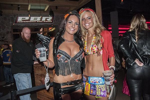 These revelers enjoyed Halloween at Ballpark Village in 2014. - PHOTO BY CAROLINE YOO