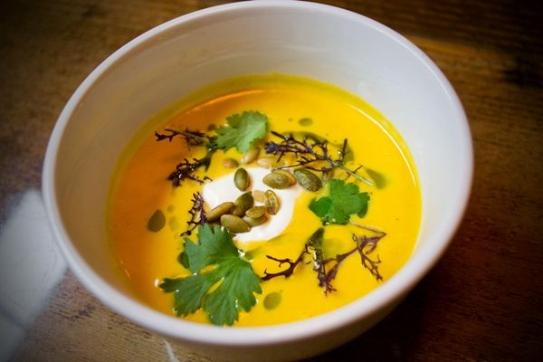 CURRIED SQUASH SOUP AT ELEMENT | PATRICK DEVINE