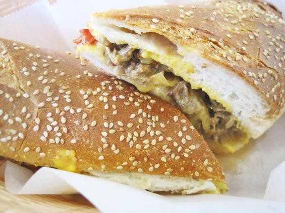 """THE """"PHILLY CHEESE STEAK"""" AT 9TH STREET DELI 
