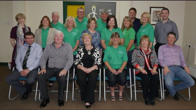 Bridget Griffin (back row, second from left) and Albert Doherty (far left in the front row) met last summer when Griffin traveled to Ireland with a delegation from St. Charles Sister Cities. - PHOTO COURTESY OF BRIDGET GRIFFIN