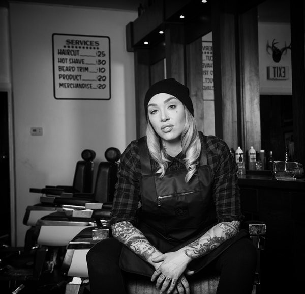 Megan Stewart leads the crew at Union Barbershop in Soulard. - IMAGE VIA ADAM TAYLOR