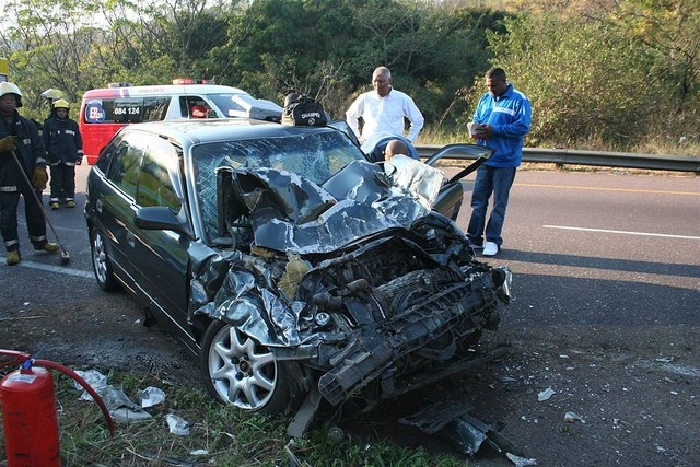 Cars collisions and violence in southern