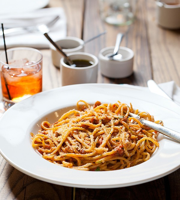 Bucatini from Gerard Craft's other pasta restaurant, Pastaria. - PHOTO BY JENNIFER SILVERBERG