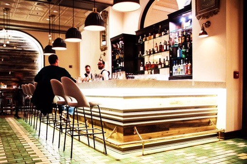 The bar at the Preston, which will be open until midnight on the weekends and 11 p.m. Sunday through Thursday. - PHOTO COURTESY OF THE PRESTON