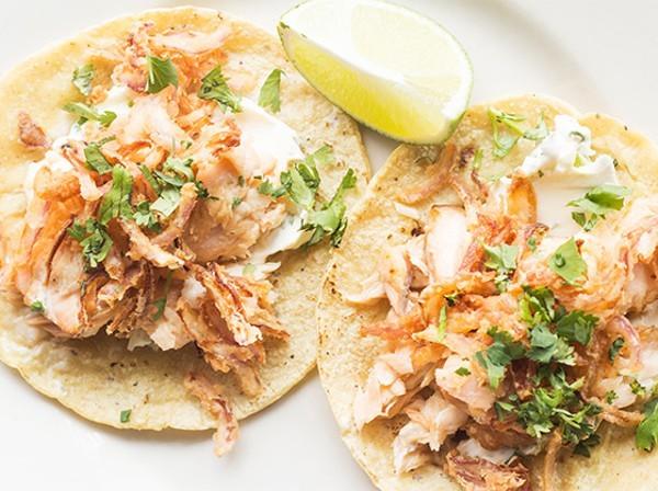 """""""Pescado blanco"""" tacos from Público - PHOTO BY MABEL SUEN"""