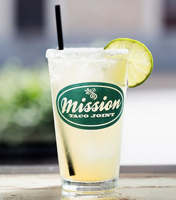 A house margarita at Mission Taco. - PHOTO BY JENNIFER SILVERBERG