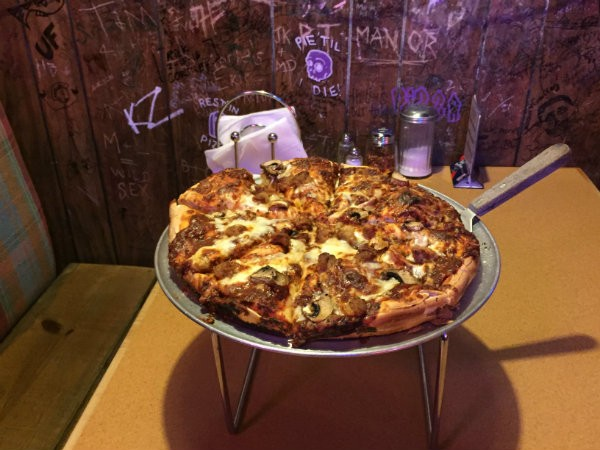 Black Thorn's pizza ... delicious. - PHOTO BY JENNA MURPHY