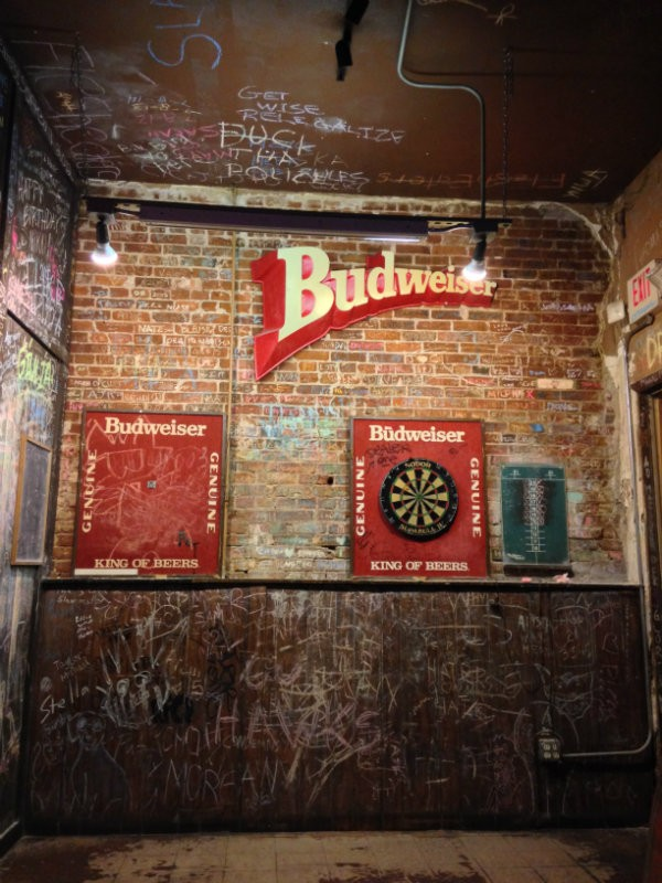 """The graffiti is a bit intense. That """"has more to do with the patrons than with me,"""" says Difani. - PHOTO BY DOYLE MURPHY"""
