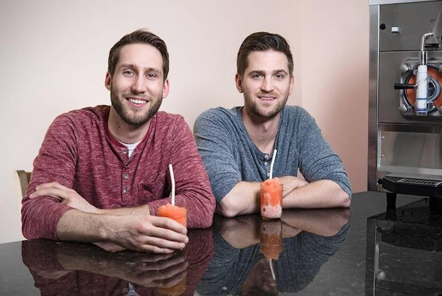 Brad Merten (left) and Brandon Holzhueter have slushies on their minds. - DAVID SCHULENBERG / DSP MEDIA